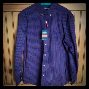 NWT Men's Chaps Easy Care Stretch Shirt M
